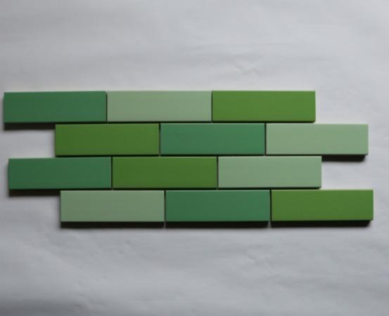 Plaquette émaillée verte