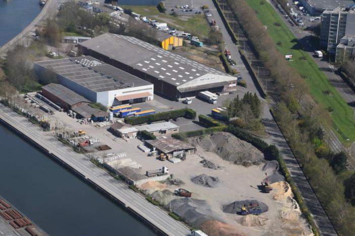 Vue aérienne Site de Lille - Port Fluvial